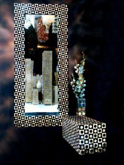 seashell handicrafts, capiz shells, vase, flower vase, home decoration, abalone shells, mother of pearl